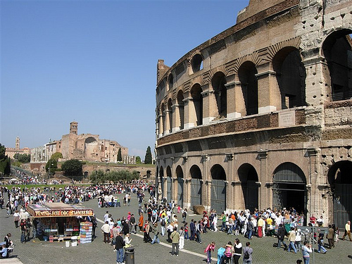 Colosseum on a sunny day