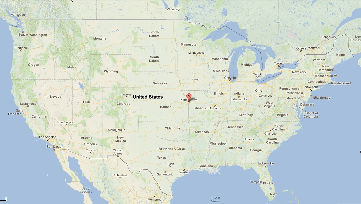 Kansas City Missouri Location In The US Top Spot Travel - Missouri on a us map