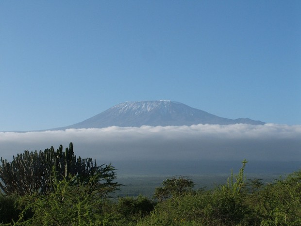 Mt.  Kilimanjaro on a sunny day