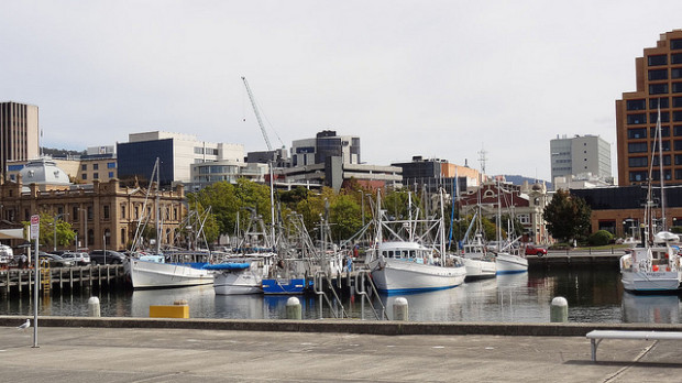 port in Hobart, Australia