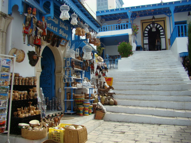 The picturesque whitewashed village of Sidi Bou Said, one of the top tourist attractions in Tunisia...!