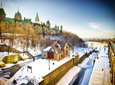 Skating along the Rideau Canal is one of the things you can do when you visit Ottawa this winter!
