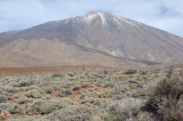 Montana Blanca, coated with snow during the subtropical winter, is one of the best places to hike on Tenerife