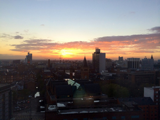 Manchester has some amazing sunsets...