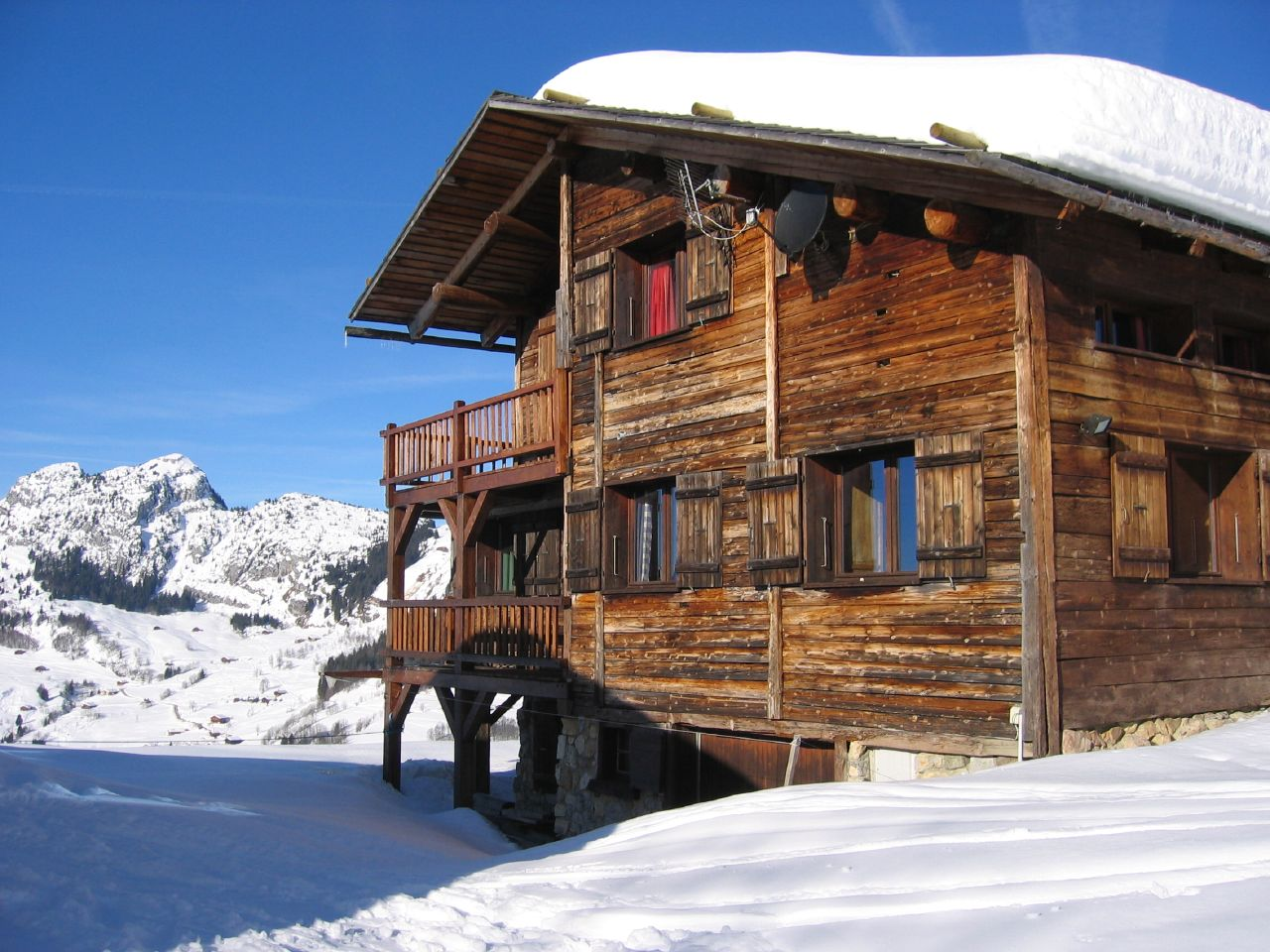 One of the best places to take winter European breaks is at an old style ski chalet in the French Alps ... photo by CC user timackroyd on Flickr