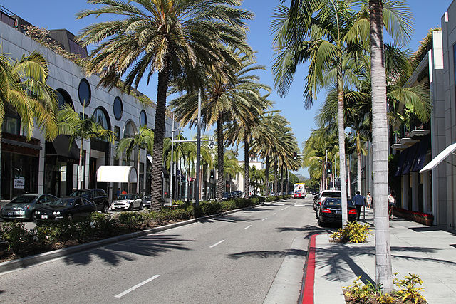 Rodeo Drive in Beverly Hills ... photo by CC user Jjron on flickr