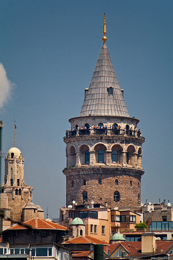 There are many great tourist attractions in Istanbul, including the Galata Tower ... photo by CC user vadim.tk on wikimedia commons